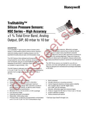 HSCSAND006BCAC3 datasheet скачать даташит