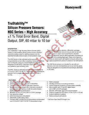 HSCSAND010BA4A3 datasheet скачать даташит