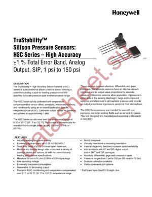 HSCSAND015PDAA5 datasheet скачать даташит