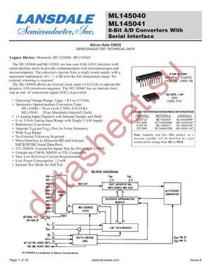 ML145041-6P datasheet скачать даташит