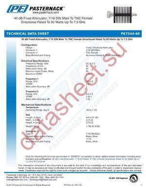 PE7344-40 datasheet скачать даташит