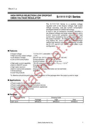 S-1121B52MC-N3LTFG datasheet скачать даташит