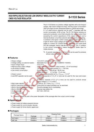 S-1133B29-U5T1G datasheet скачать даташит