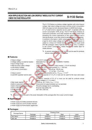 S-1133B44-U5T1G datasheet скачать даташит