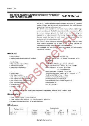 S-1172B33-U5T1G datasheet скачать даташит