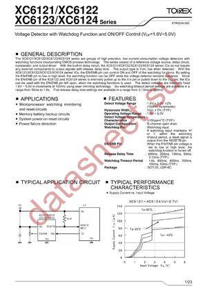 XC6124C222ML datasheet скачать даташит
