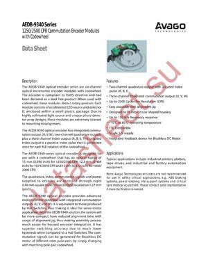 AEDB-9340-B-011-B datasheet скачать даташит