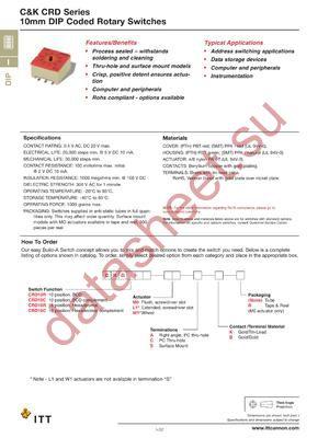 CRD10RW1ABR datasheet скачать даташит