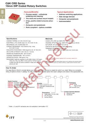CRD10RW1SBR datasheet скачать даташит