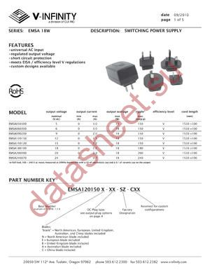 EMSA120150N-P8R-SZ-C datasheet скачать даташит