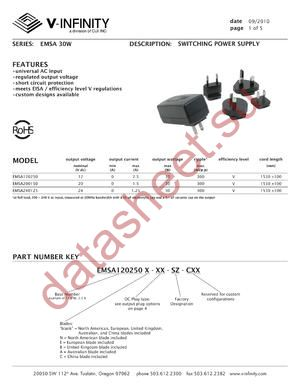 EMSA120250B-P13-SZ-C datasheet скачать даташит