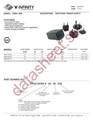 EMSA120300C-P1R-SZ-C datasheet скачать даташит