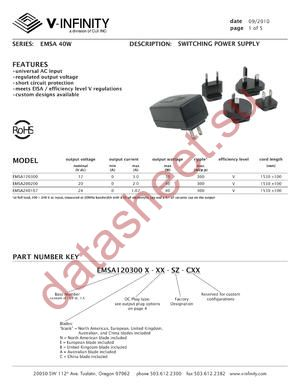 EMSA120300E-P1R-SZ-C datasheet скачать даташит