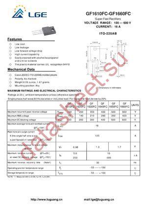 GF1660FC datasheet скачать даташит