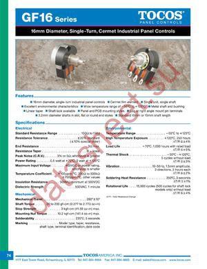 GF16L15RB105M datasheet скачать даташит