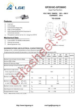 GF2050C datasheet скачать даташит