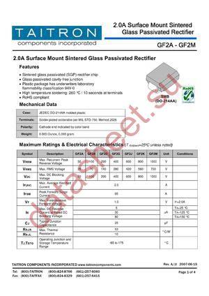 GF2B datasheet скачать даташит