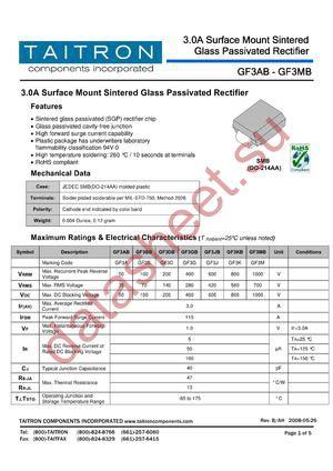 GF3KB datasheet скачать даташит