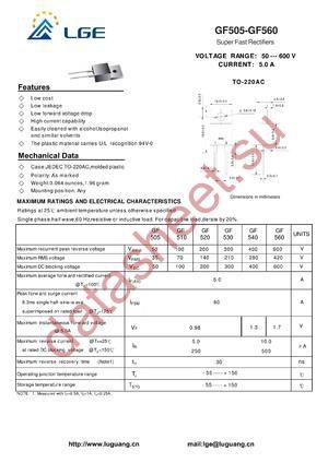 GF505 datasheet скачать даташит