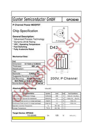 GFC9240 datasheet скачать даташит