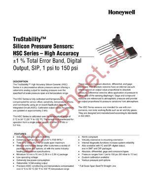 HSCSAND015PG3A5 datasheet скачать даташит
