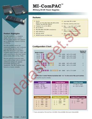 MI-QC63T-ISY datasheet скачать даташит