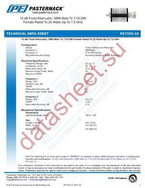 PE7355-10 datasheet скачать даташит