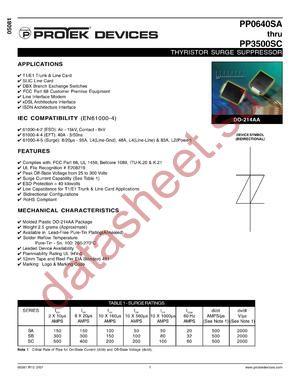 PP0640SB-T datasheet скачать даташит
