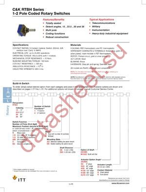 RTBH302BCBDED6K6025G datasheet скачать даташит