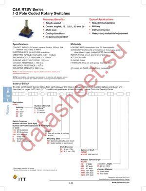 RTBV301CBADD6K025S datasheet скачать даташит