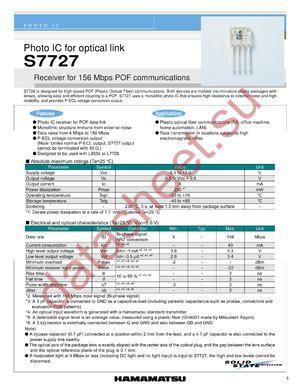 S7727 datasheet скачать даташит