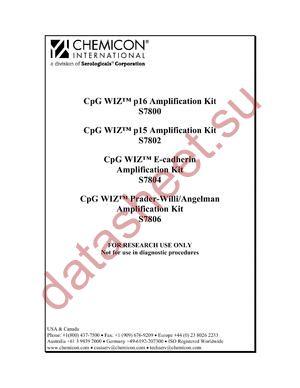 S7806 datasheet скачать даташит