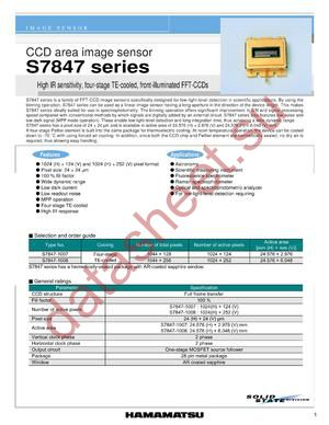 S7847-1007 datasheet скачать даташит