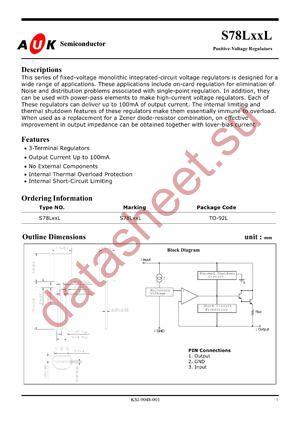 S78L15L datasheet скачать даташит