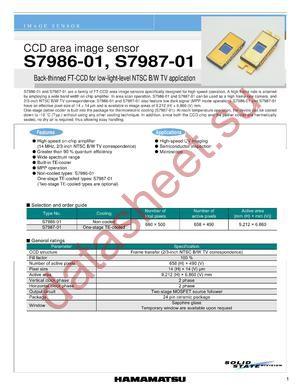 S7986-01 datasheet скачать даташит