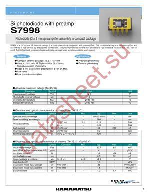 S7998 datasheet скачать даташит