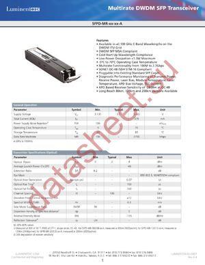 SFPD-MR-20-42-A datasheet скачать даташит