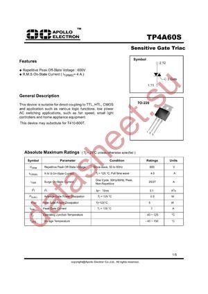 TP4A60S datasheet скачать даташит