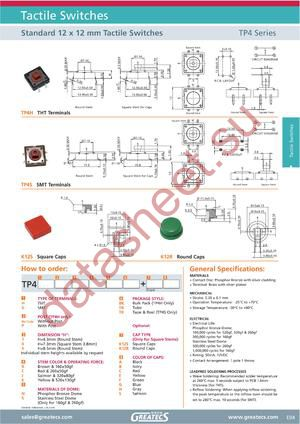 TP4SP4KNTBK12SA datasheet скачать даташит