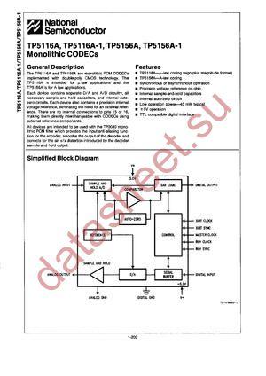 TP5156A datasheet скачать даташит