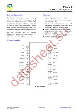 TP5208 datasheet скачать даташит