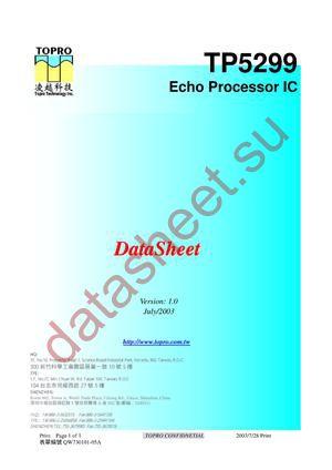 TP5299 datasheet скачать даташит