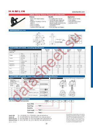 59036X-T-01-A datasheet скачать даташит