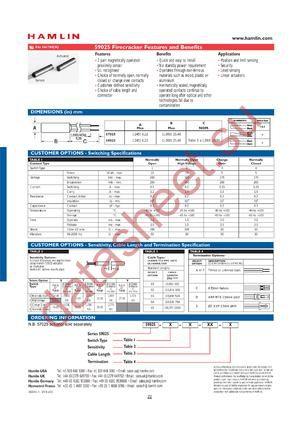 59052-X-S-03-A datasheet скачать даташит