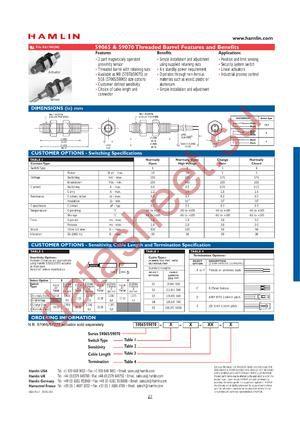 59070-3-V-01-D datasheet скачать даташит