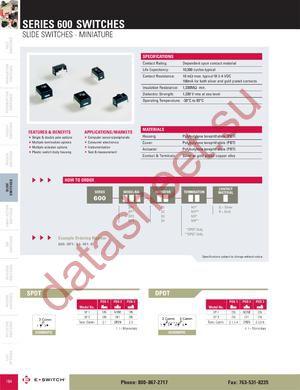 600DP1S1M3Q datasheet скачать даташит